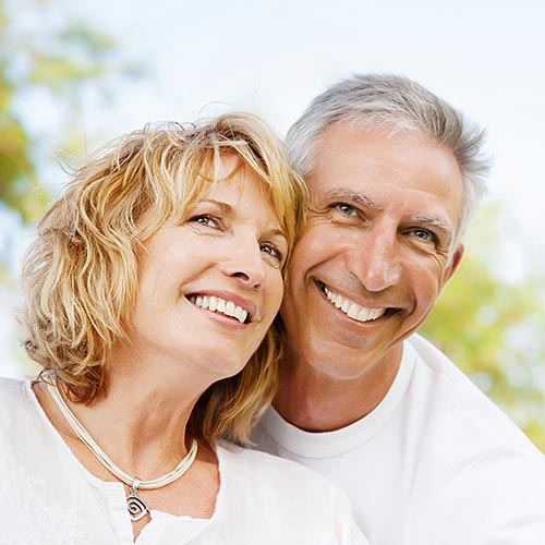 mature couple with white teeth